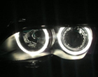 Ccfl Angel Eyes For BMW E46 2d 04 With Projector