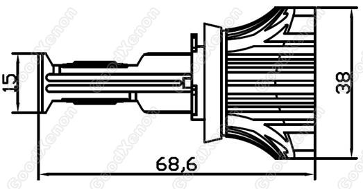 H16 Led Headlight 1200lm
